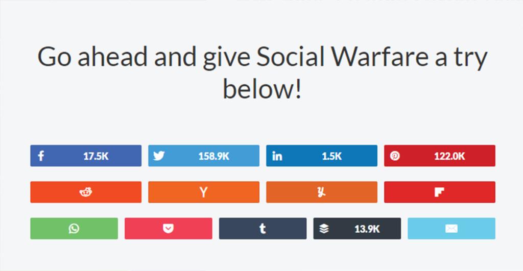 Social Warfareのシェアボタン種類