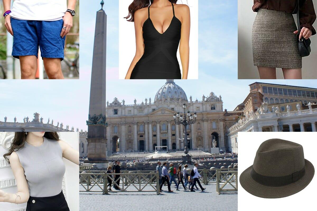 バチカン市国のドレスコードの注意点