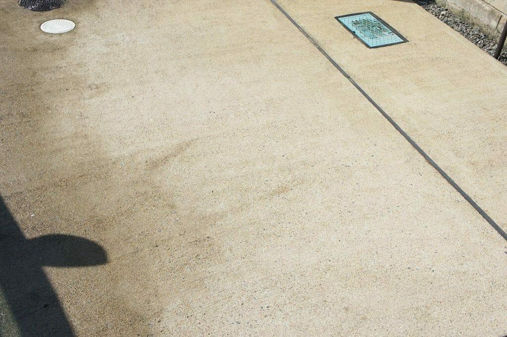 ボッシュ UA125 コンクリート洗浄後
