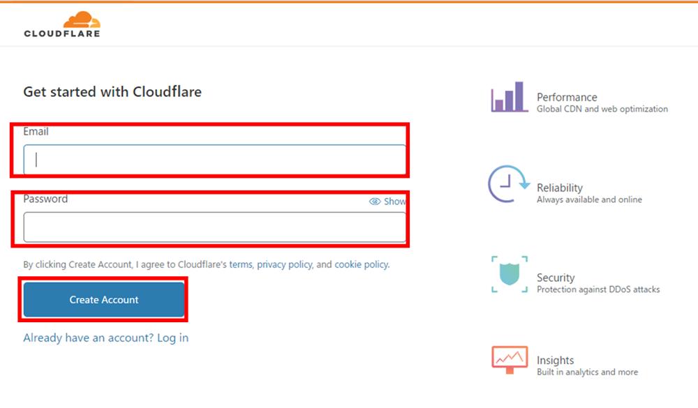 Cloudflare サインイン方法2