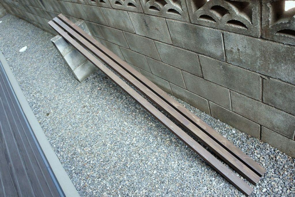 サンシェード取り付け用柱3本