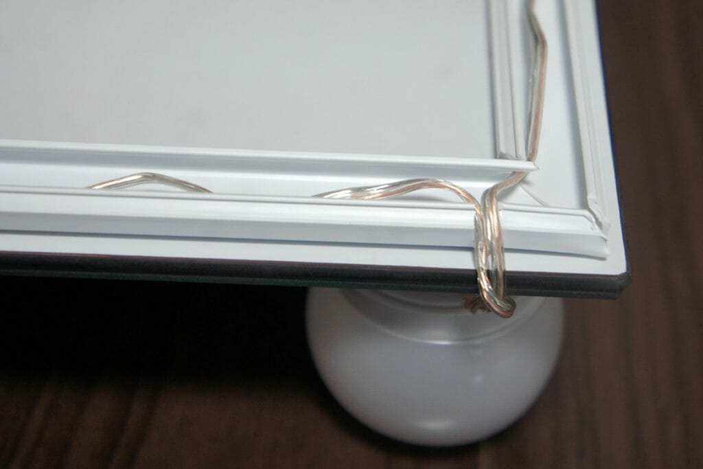 ハリウッドミラー 配線カバー角部分処理