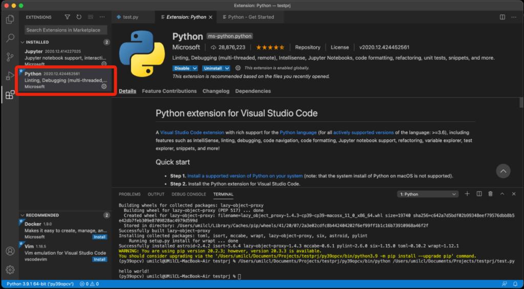 Python(ms-python.python)