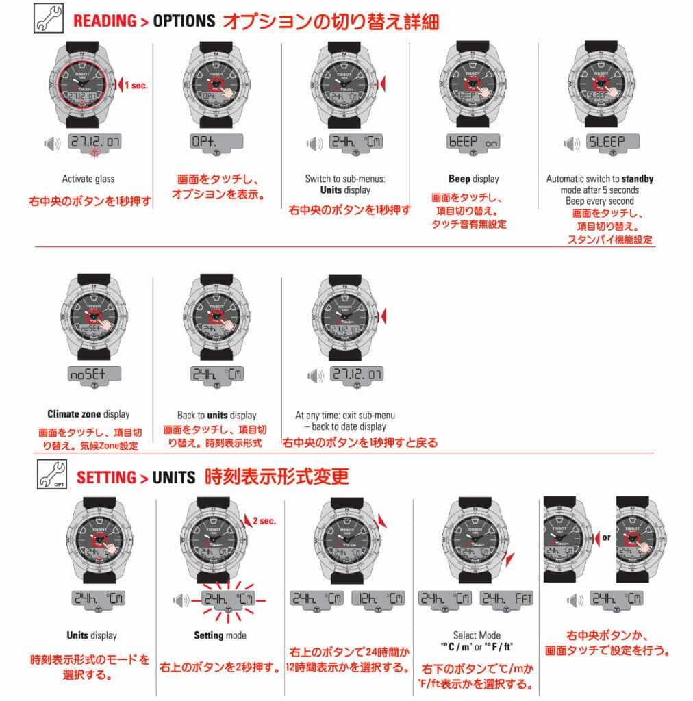 Tissot T-Touch 2 操作マニュアル2