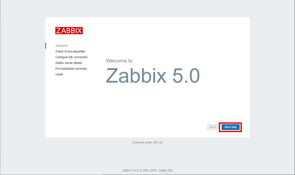Zabbix WebUI 1
