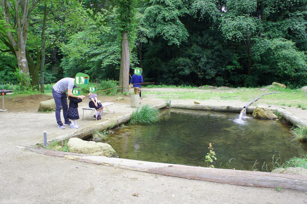 フィッシングパークつくば園 ニジマス用の小型池