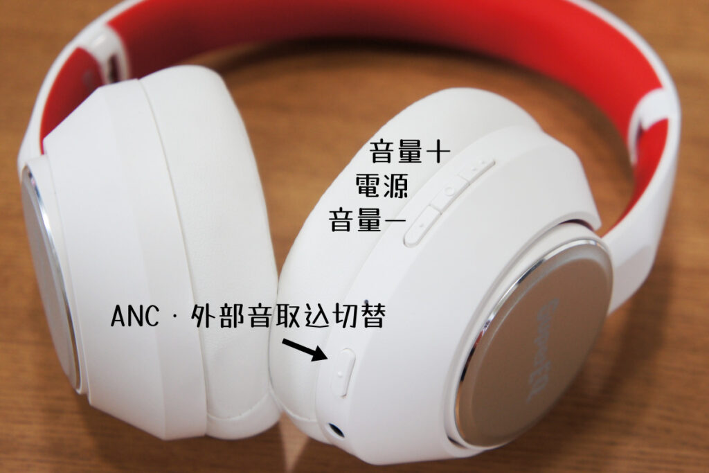 OneOdio SuperEQ S1 操作ボタン