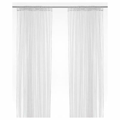 LILL リル ネットカーテン1組, ホワイト - IKEA
