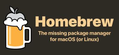 macOS(またはLinux)用パッケージマネージャー — Homebrew